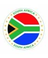 Viltjes met Zuid-Afrika vlag opdruk
